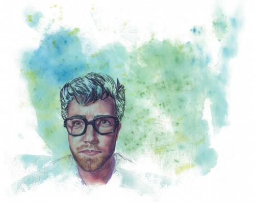 Nearsighted 1, mixed media